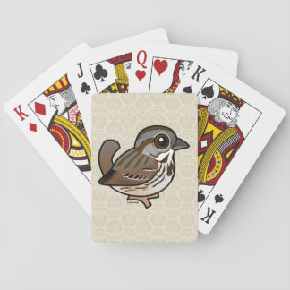 Birdorable Song Sparrow Poker Cards