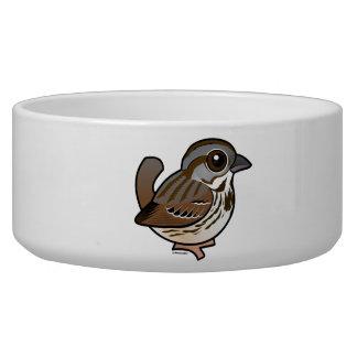 Birdorable Song Sparrow Dog Water Bowls