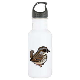 Birdorable Song Sparrow Stainless Steel Water Bottle
