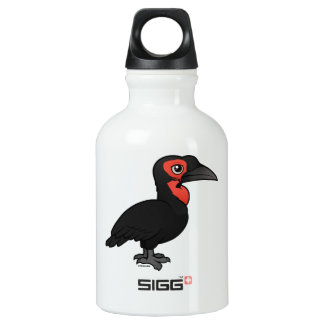 Birdorable Southern Ground Hornbill Aluminum Water Bottle