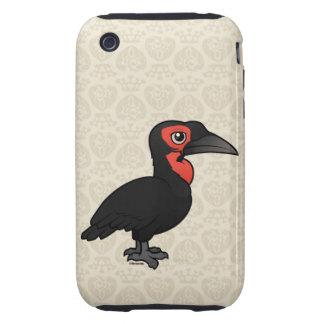 Birdorable Southern Ground Hornbill Tough iPhone 3 Cases