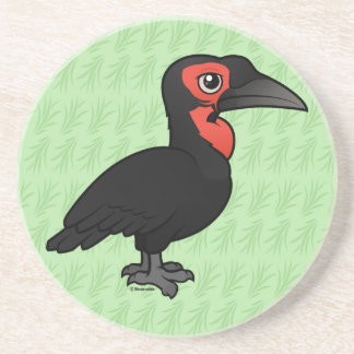 Birdorable Southern Ground Hornbill Drink Coaster