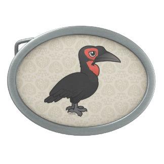 Birdorable Southern Ground Hornbill Oval Belt Buckle