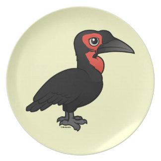 Birdorable Southern Ground Hornbill Party Plates