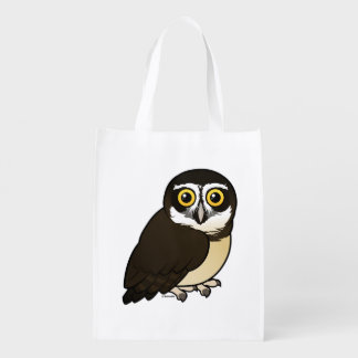Birdorable Spectacled Owl Grocery Bag
