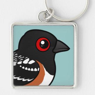 Birdorable Spotted Towhee Keychain