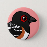 Spotted Towhee Round Button
