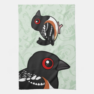 Birdorable Spotted Towhee Towels