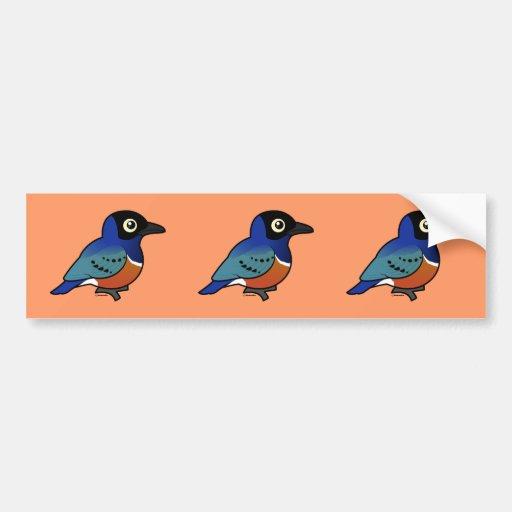 Birdorable Starling magnífico Pegatina De Parachoque