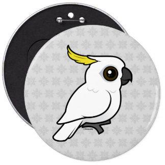Birdorable Sulphur-crested Cockatoo Pinback Button
