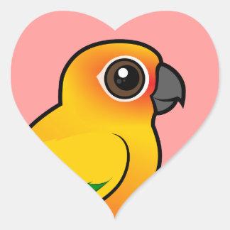 Birdorable Sun Parakeet Heart Sticker