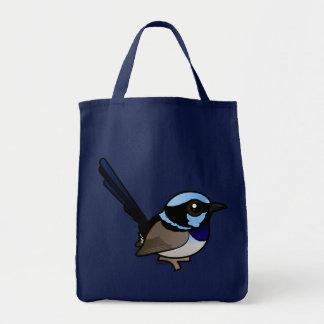 Birdorable Superb Fairywren Grocery Tote Bag