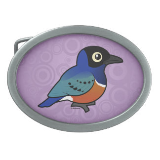 Birdorable Superb Starling Oval Belt Buckles