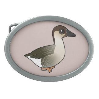 Birdorable Swan Goose Oval Belt Buckle