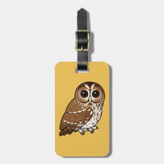 Birdorable Tawny Owl Luggage Tag