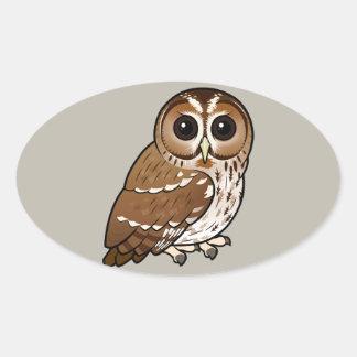 Birdorable Tawny Owl Oval Sticker