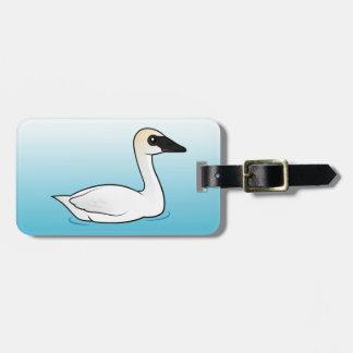 Birdorable Trumpeter Swan Bag Tag