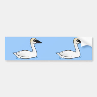 Birdorable Trumpeter Swan Bumper Sticker