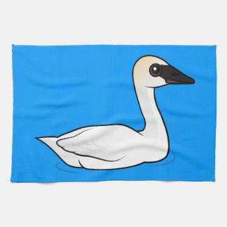 Birdorable Trumpeter Swan Hand Towel