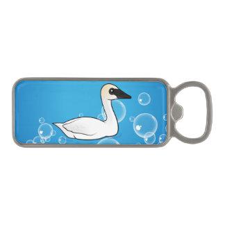 Birdorable Trumpeter Swan Magnetic Bottle Opener