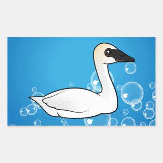 Birdorable Trumpeter Swan Rectangular Sticker
