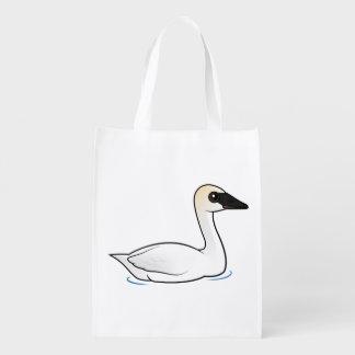 Birdorable Trumpeter Swan Reusable Grocery Bag