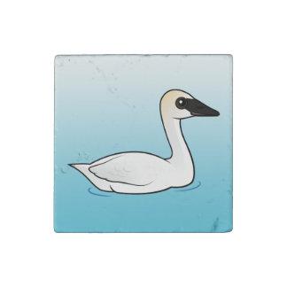 Birdorable Trumpeter Swan Stone Magnet