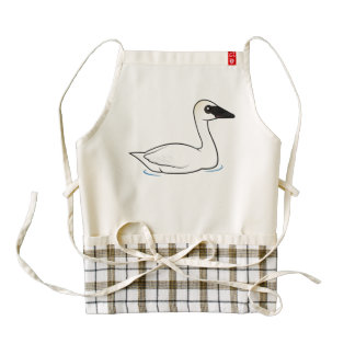 Birdorable Trumpeter Swan Zazzle HEART Apron