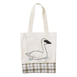 Birdorable Trumpeter Swan Zazzle HEART Tote Bag