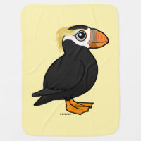 Tufted Puffin Baby Blanket