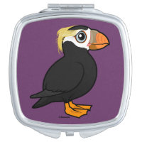 Tufted Puffin Square Compact Mirror