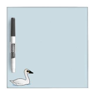 Birdorable Tundra Swan Dry Erase Board