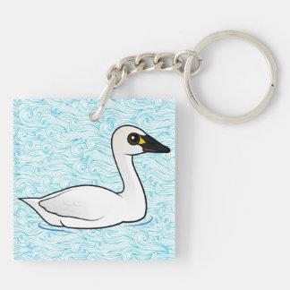 Birdorable Tundra Swan Keychain