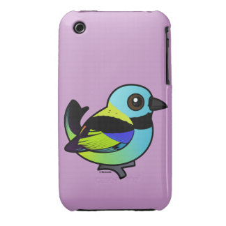 Birdorable Verde-dirigió el Tanager iPhone 3 Case-Mate Carcasa