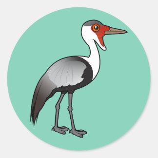 Birdorable Wattled Crane Classic Round Sticker