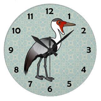 Birdorable Wattled Crane Large Clock