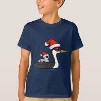 Christmas Western Grebe Santa Kids' Hanes TAGLESS® T-Shirt