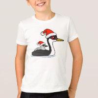 Christmas Western Grebe Santa Kids' American Apparel Fine Jersey T-Shirt