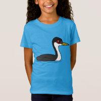 Birdorable Western Grebe Girls' Fine Jersey T-Shirt
