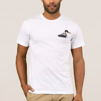 Western Grebe with chick Men's Basic American Apparel T-Shirt