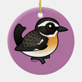 Birdorable Whinchat Ceramic Ornament