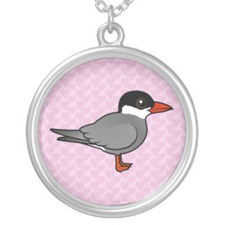 Birdorable Whiskered Tern Round Pendant Necklace