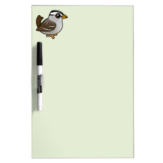 Birdorable White-crowned Sparrow Dry-Erase Board