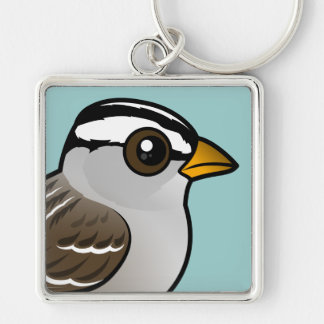 Birdorable White-crowned Sparrow Keychain