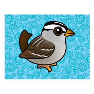 Birdorable White-crowned Sparrow Postcard