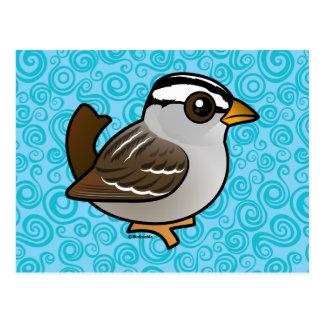 Birdorable White-crowned Sparrow Postcard