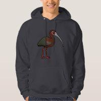 White-faced Ibis Men's Basic Hooded Sweatshirt