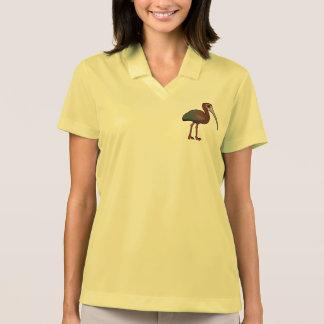Birdorable White-faced Ibis Polo T-shirts