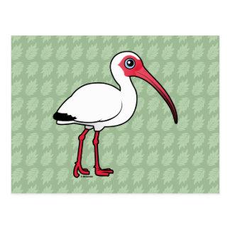 Birdorable White Ibis Postcard