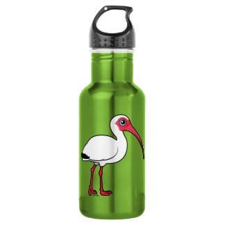Birdorable White Ibis Water Bottle